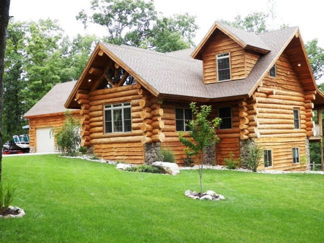 159 best images about log homes stone homes on pinterest for Log homes with stone