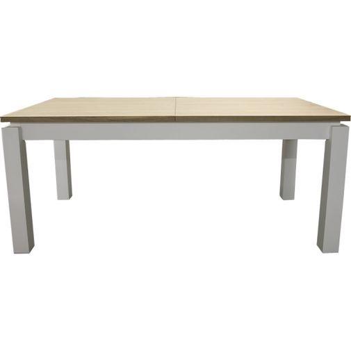 Snyggt och trendigt bord i mattlack med svävande skiva.  Bordet är 180 cm med butterfly utdragsskivo...