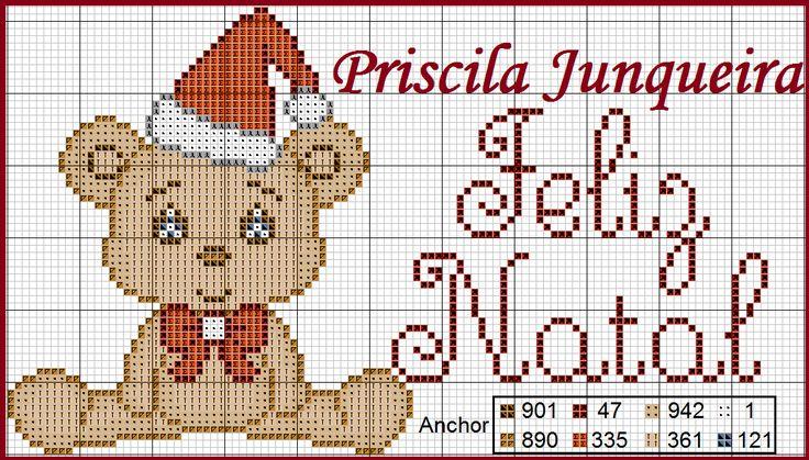 Priscila Junqueira Ponto Cruz: Sugestão de Bordado para o Natal