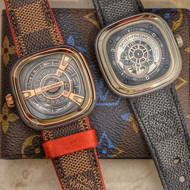 Louis Vuitton strap made for sevenfriday watches