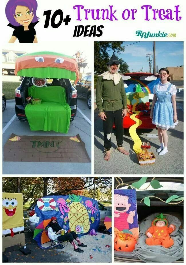 15 best trunk or treat images on Pinterest Halloween prop - trunk halloween decorating ideas