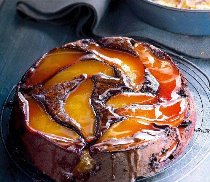 Ce magnifique gâteau renversé au chocolat et poire a été élaboré par Cyril…