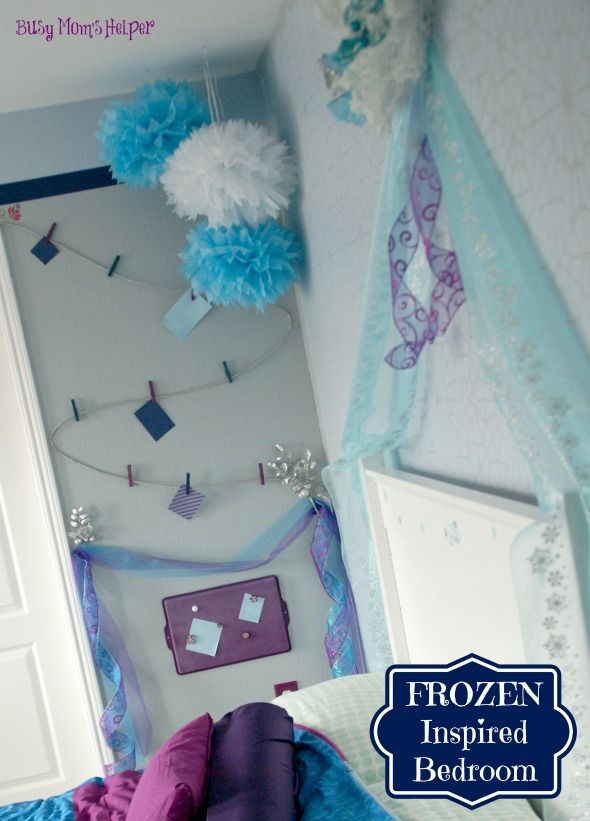 FROZEN Inspired Bedroom via @Danielle {Busy Mom's Helper}