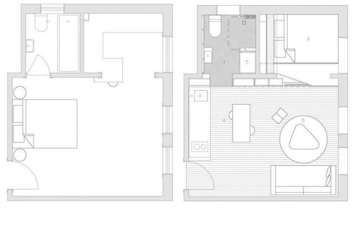27 nm-es kis lakás felújítás után – Hihetetlen, mi lett belőle!