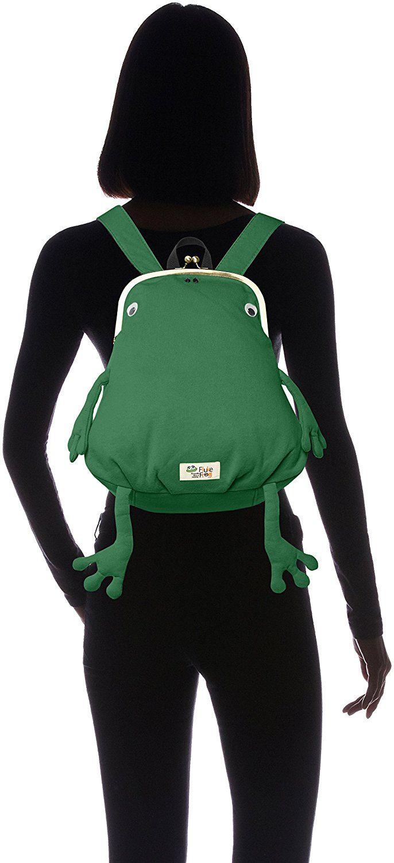 Amazon   [ジムマスター] カエルガマグチミニリュック がまぐちシリーズ、fluke frog G621354 43 グリーン   タウンリュック・ビジネスリュック