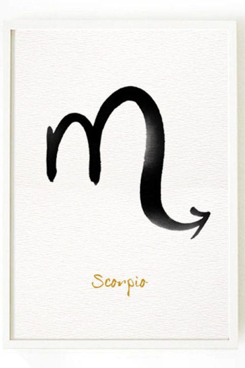 Scorpio print, $15, etsy.com.