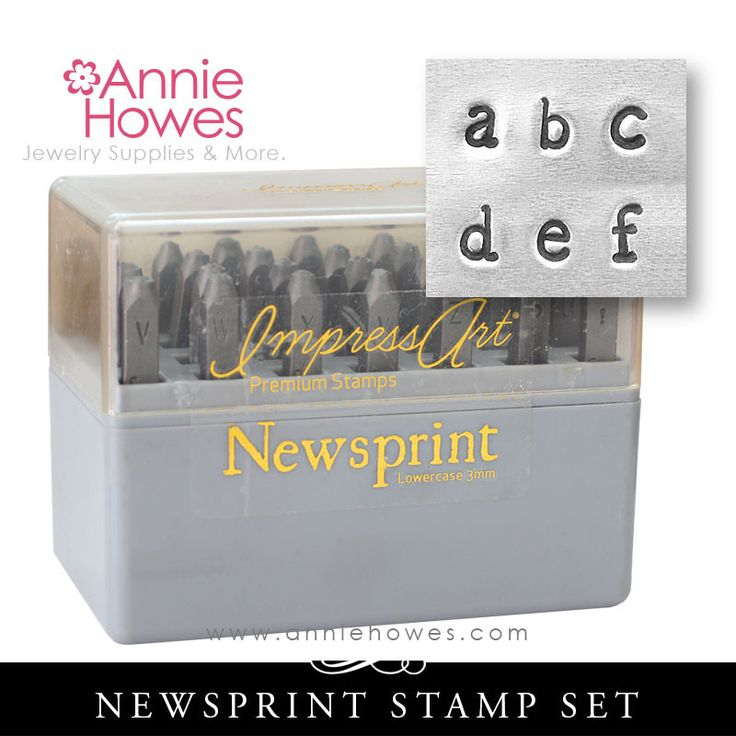 Impressart Metal Stamps - Newsprint Alphabet Stamp Lowercase Set