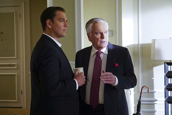 """Official episodic photos for NCIS season 13 episode 19, """"Reasonable Doubts,"""" airing Tuesday, March 22.From CBS: """"The NCIS team must ascertain who is lying, the wife or the mistress, after the women accuse each other of murdering a Navy Public Affairs officer. Also, Anthony DiNozzo, Sr. (Robert Wagner) helps a homeless woman who believes he is her father."""""""