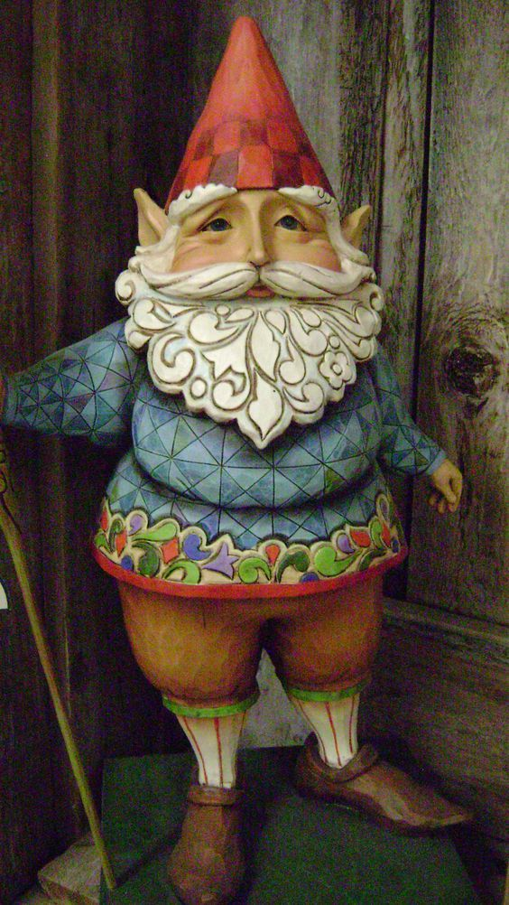 Gnomie was going out for a stroll. It was a coincidence he had on new threads-  by Jim Shore