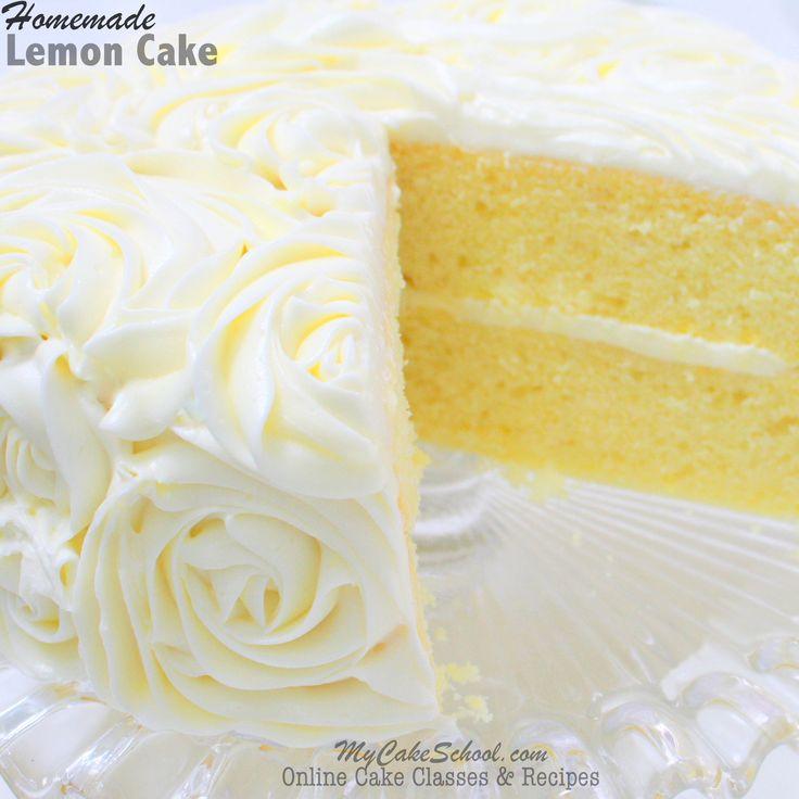 Lemon Cake With Lemon Curd And Buttercream Frosting