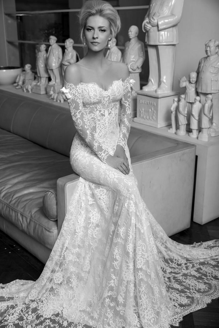2016 Berta Vintage Lace Wedding Dresses Mermaid Sheer Long Sleeves Backless Off Shoulder Beach Bridal Gowns Plus Size Bridal Lace Budget Wedding Dresses From Wheretoget, $136.69| Dhgate.Com