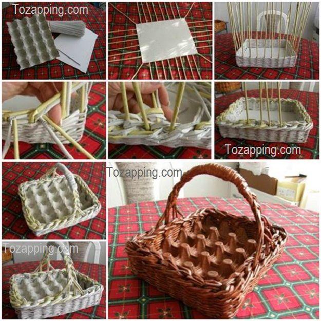 Hacer una cestas de papel, modo útil de reciclar viejos periódicos y aprender: Fabricar unas cestas de papel hecho con periódicos.Como hacer cestas de papel