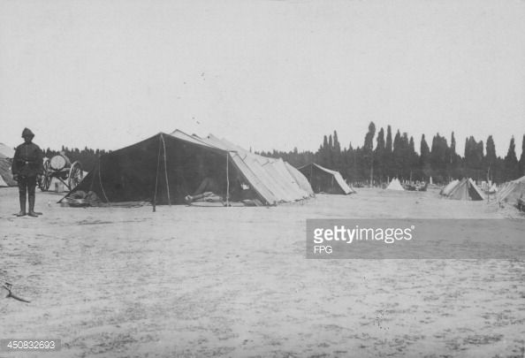 A Turkish military base camp in Gallipoli during World War One, Turkey, circa 1915-1916.