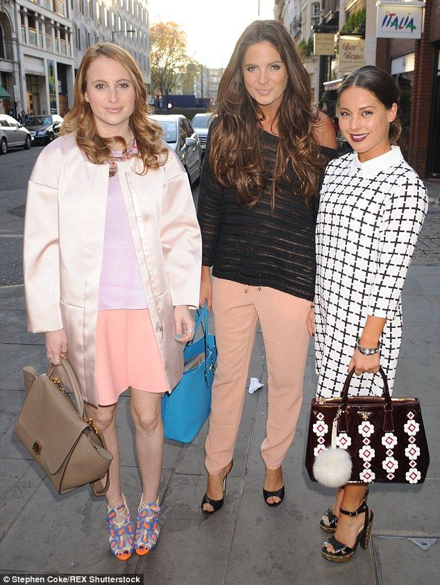 Made In Chelsea stars Rosie Fortescue, Binky Felstead and Louise Thompson attend a French ...