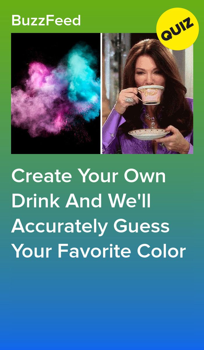 Create Your Own Drink And We'll Accurately Guess Your Favorite Color
