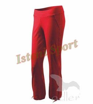 Leisure Női Sportos Szabadidőnadrág kellemes, kényelmes, laza, puha, enyhén testhezálló, szép, elegánsan sportos, csinos viseletet biztosít. A kellemes elasztikus anyag, spandex adalékanyagnak köszönhetően, a Leisure női nadrág alaktartó. Két bevarrt első zseb, rugalmas derékrész, bevarrt gumival, és a nadrág alsó szegélye zsinórral összehúzható.