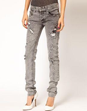 ASOS Cheap Monday Narrow Holey Skinny Jeans