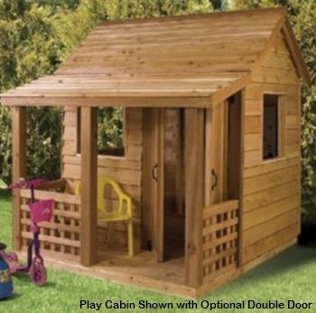 I wish I had one of these for a storage building!!  I need one of these!: Playhouses Ideas, Cabins Kits, Kids Playhouses, Plays Houses For Kids Outdoor, Plays Ideas, Dogs Houses, Logs Cabins, Outdoor Playhouses, Play Houses