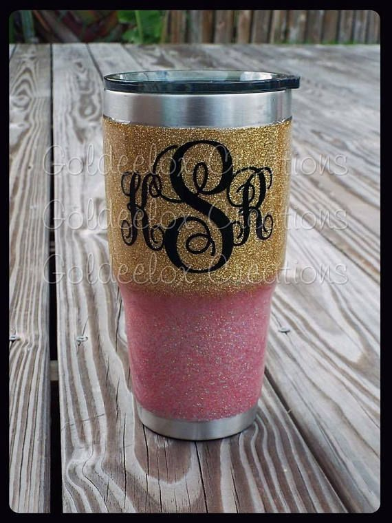Custom Stainless Tumblers! Insulated to keep drinks super cold or hot for hours! We add the customized vinyl & glitter to match any occasion! Made by Ozark® and we customize for you! Please be sure to read our entire listing BEFORE Purchasing! *****PLEASE NOTE THAT SOME OF OUR SAMPLE PHOTOS MAY HAVE ADDITIONAL OPTIONS that are available for ADDITIONAL FEES***** We purchase the blank tumblers from a 3rd party vendor. Goldeelox Creations is NOT responsible for the craftsmanship of the blank...