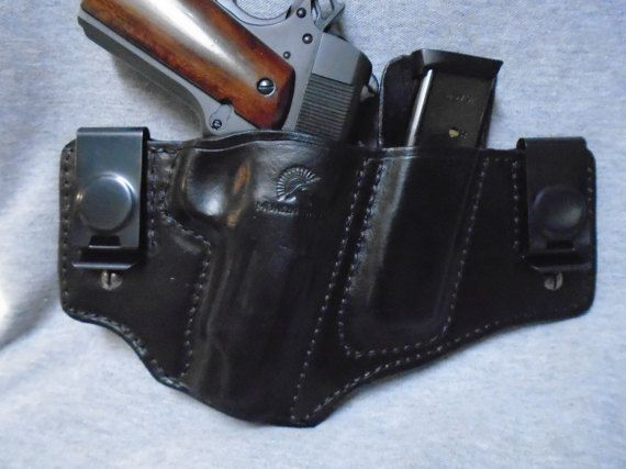 IWB Leather Holster & Mag Pouch Combo. by KeyStoneGunLeather1