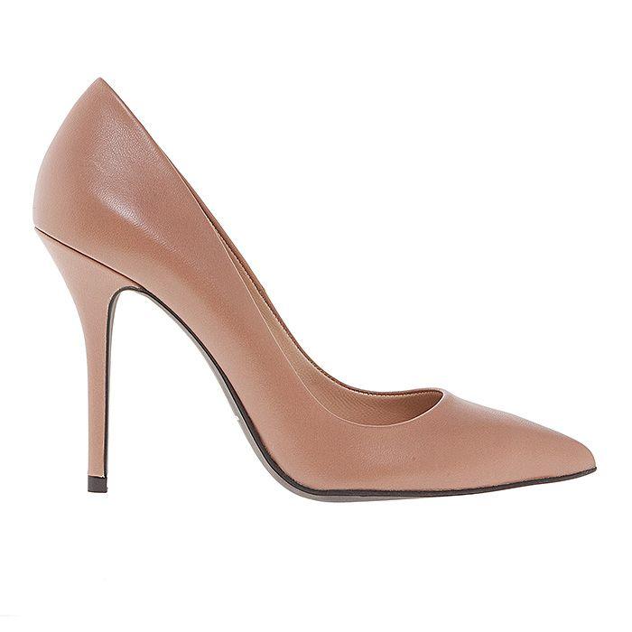 100400-NUDE LEATHER #mourtzi #heels #caramel #office #wow #pumps #chic #nudes www.mourtzi.com