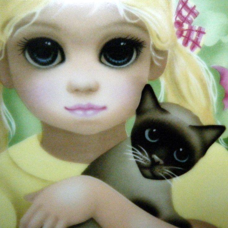 1970s Margaret KEANE  Plate My Kitty Little Girl Holding Cat Plate. $20.00, via Etsy.