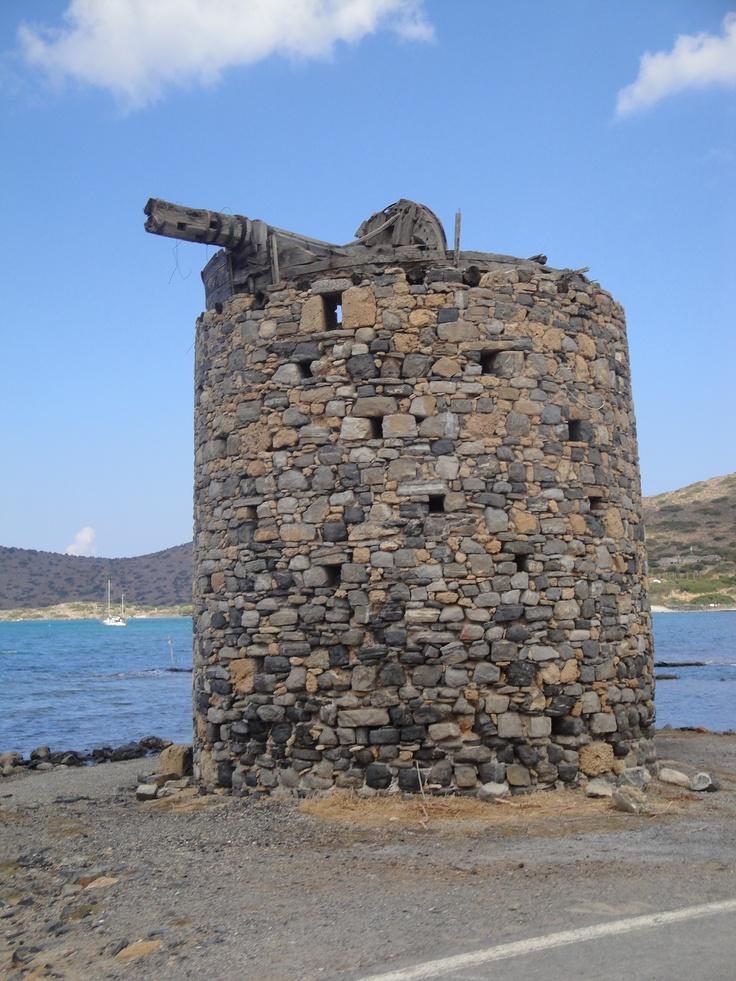 Oude windmolen op Kreta