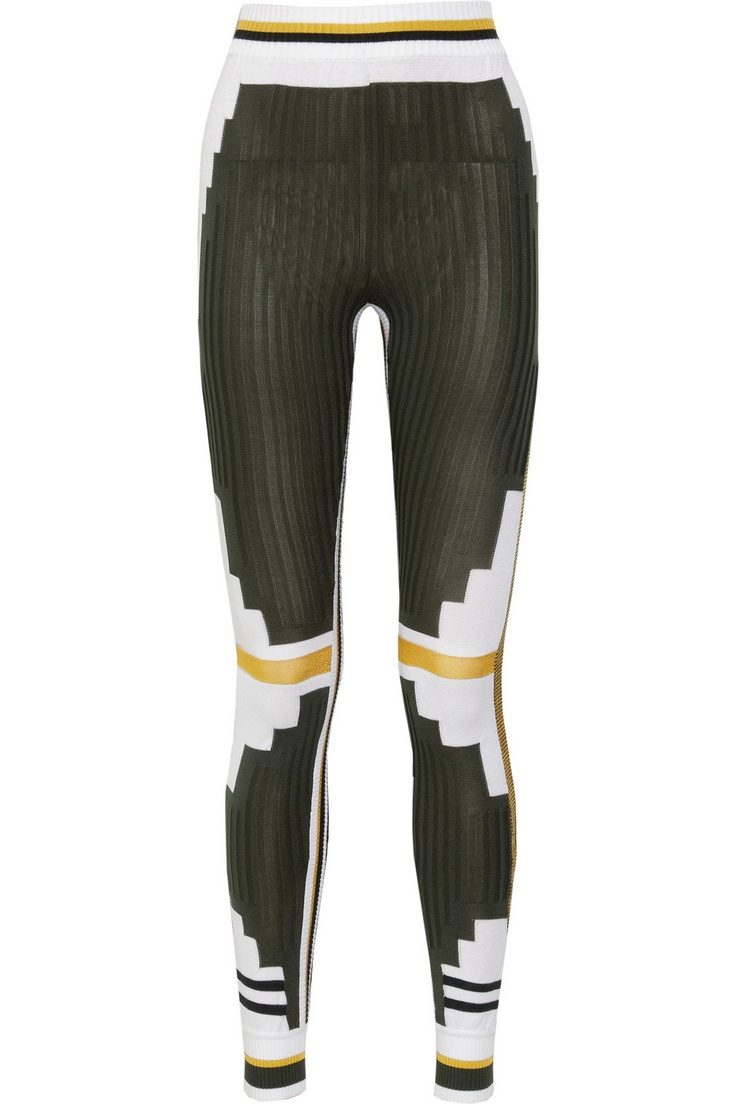 Athletic Patchwork stretch-knit leggings by Alexander Wang ...