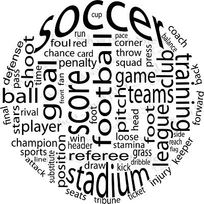 Wall Quote Wall Quote Soccer Ball Words--this would make a really cute t-shirt for the kids!