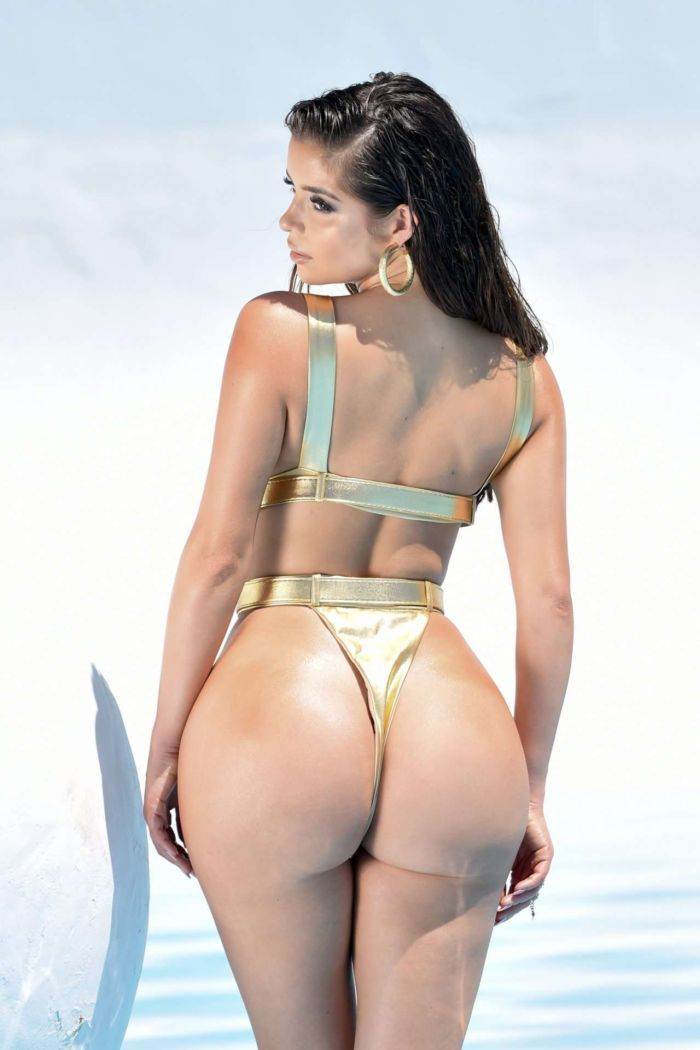 Demi Rose Mawby S Amazing Golden Bikini Photoshoot In La Page 18