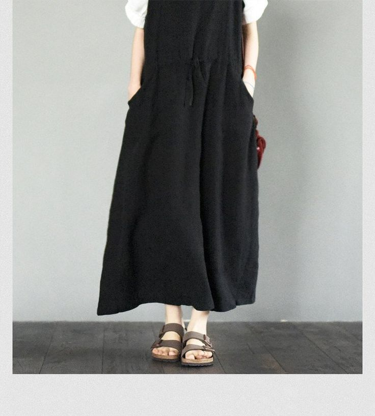 Black Braces Dresses Causal Dresses Maxi Size Women Clothes LR681