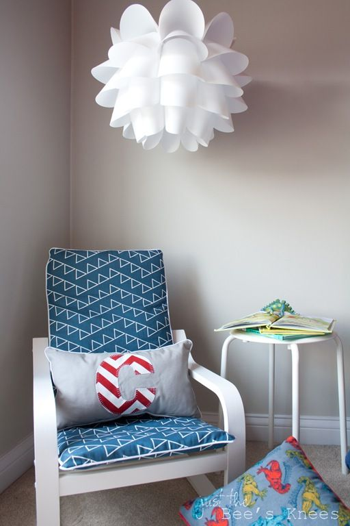 Childs slipcovered IKEA chair ~ a tutorial from Just The Bee's Knees