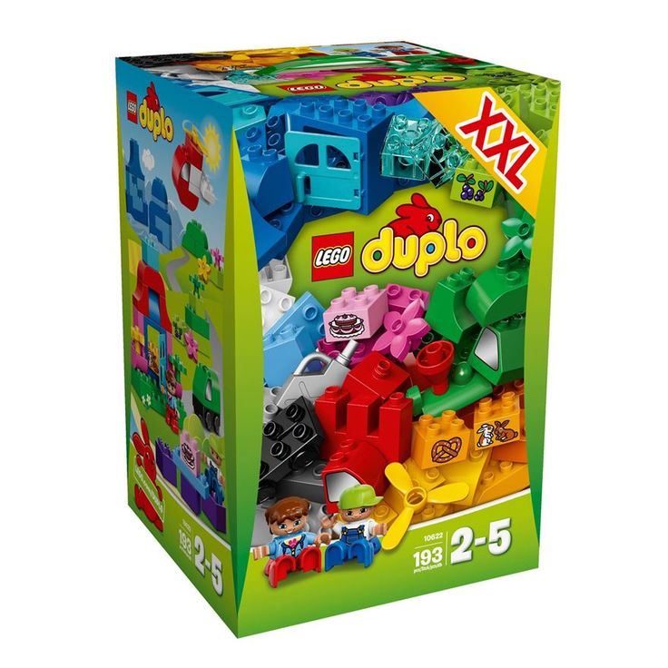 Inspire your little one with the LEGO Duplo XXL Creative Box 10622! It's a great introduction to LEGO. Your toddler can build impressive landscapes with the bricks in this set to spark their imagination for open-ended building creativity. You can build a train in the ountains, boats at the port or a picnic at the house.