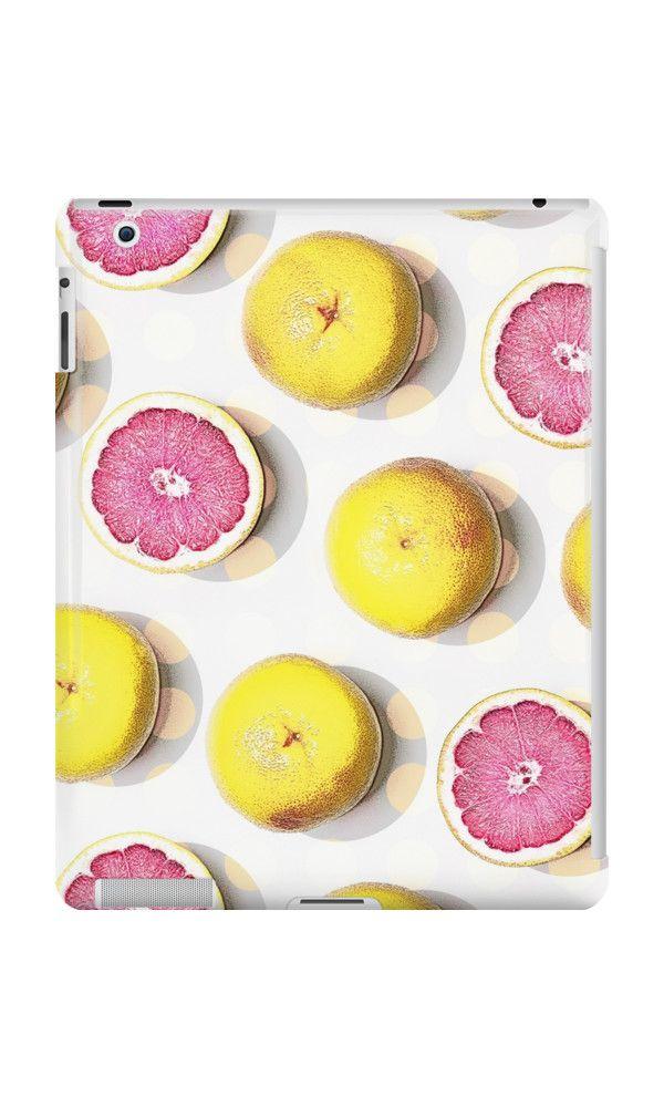 PINK GRAPE FRUIT by adventura #ipadcase #ipad #case #fruitprint #fresh #fruit #grapefruit #citrus #girly #pink #accessory #trending