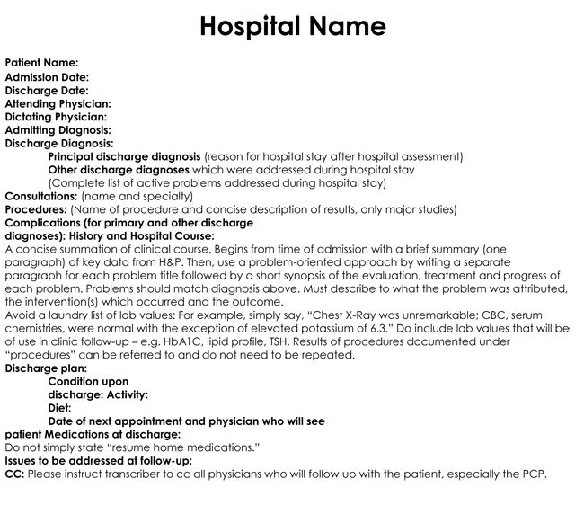 26 best TDG - Hospital Graphics images on Pinterest Hospitals - discharge summary template