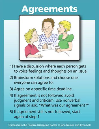 Positive Discipline: Agreements: When Children Don't Keep Them and Seven Steps to Encourage Cooperation