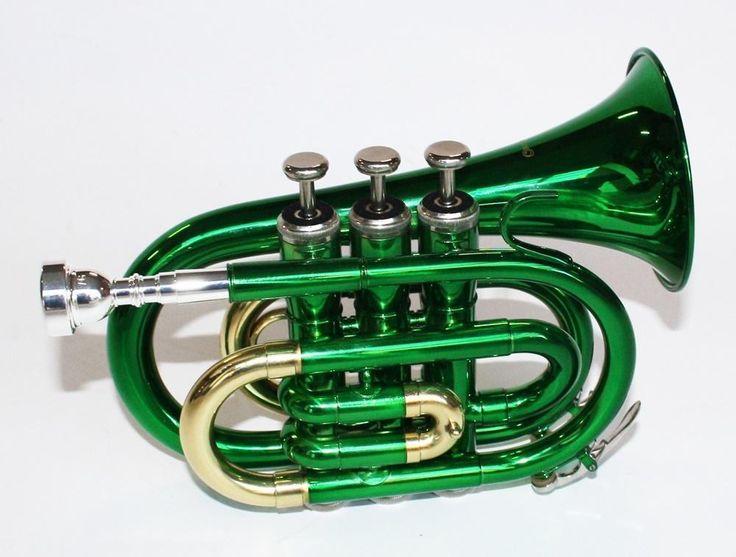 ≥ Nieuwe pockettrompet met koffer, zwart, groen enz. met boek - Blaasinstrumenten | Trompetten - Marktplaats.nl