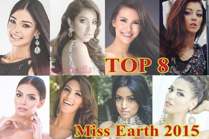 Eight Favourite Contenders of Miss Earth 2015