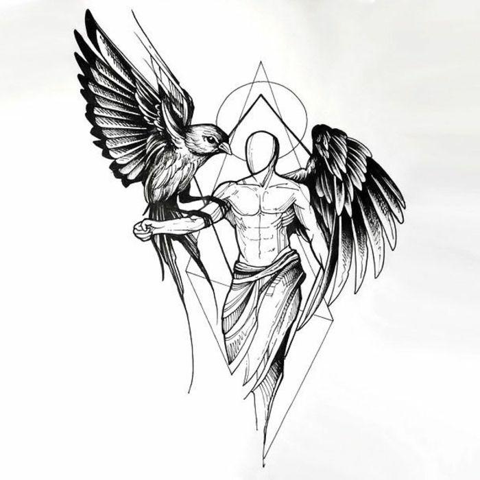 ▷ 1001 + Ideen für einen schönen Engelsflügel Tattoo, die Ihnen sehr gut gefallen können