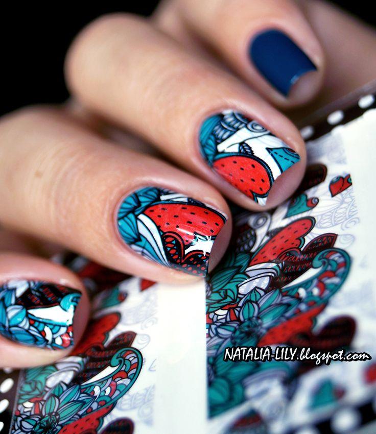 natalia-lily: Beauty Blog: GOLDEN ROSE RICH COLOR 108 + NAKLEJKI WODNE BPS BP-W12 | Manicure
