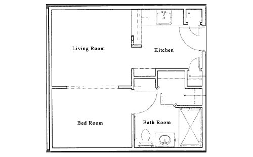 17 best images about small space floor plans on pinterest for Guest apartment floor plans