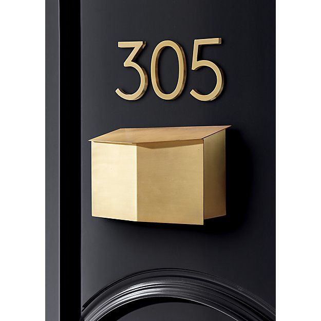Bow Angled Brass Wall Mounted Mailbox Reviews Cb2 Mounted Mailbox Wall Mount Mailbox Black Walls