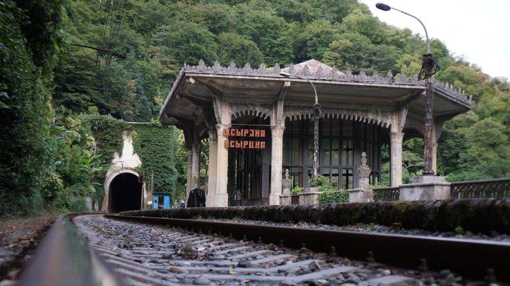 Unrecognized republic of Abkhazia, Psyrtskha railway station