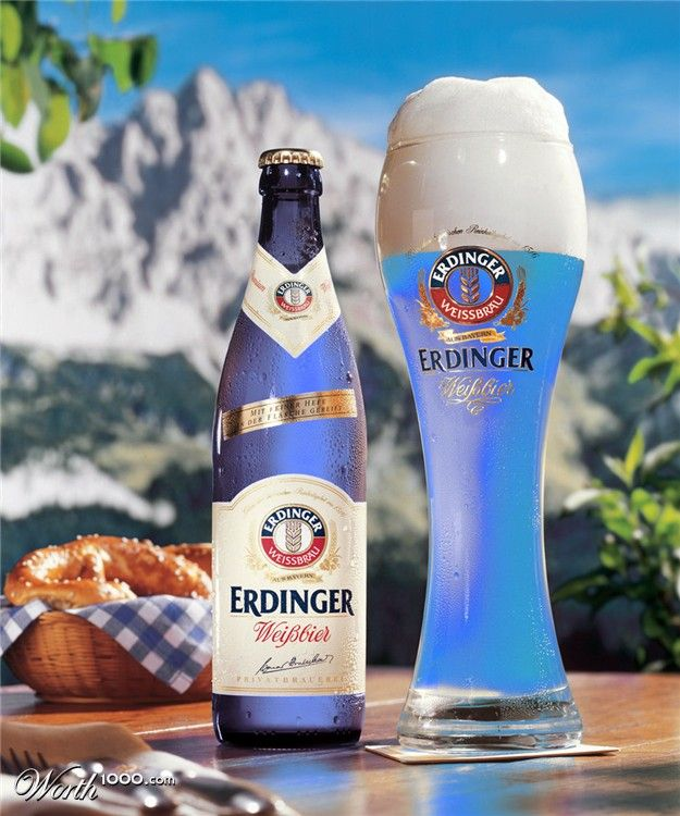 I want this blue beer!