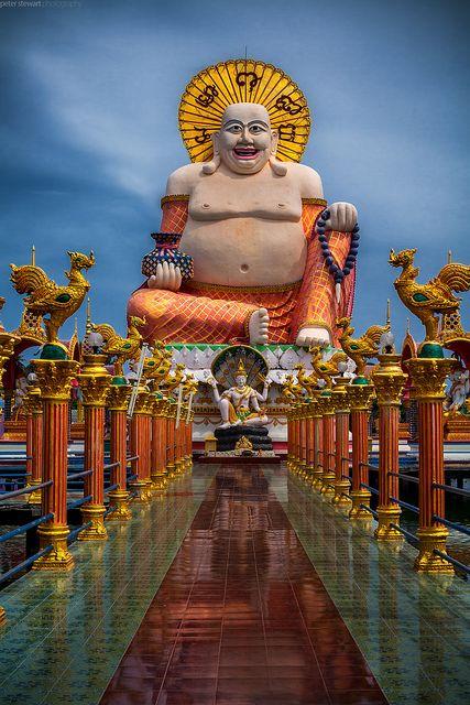 Wat Plai Laem - Surat Thani, Thailand (Fat Buddha of Wealth)