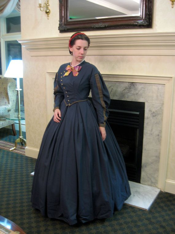 1860s Civil War Wool Day Dress By Idlewildillustree On