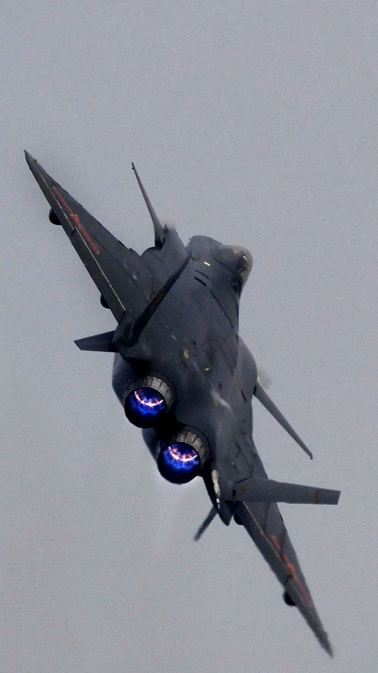 China's J-20 Stealth Fighter, black jet [Future Airplanes: http://futuristicnews.com/tag/aircraft/] Join with us at International Research Community and Travel Guides = https://www.facebook.com/groups/1547062925573513/
