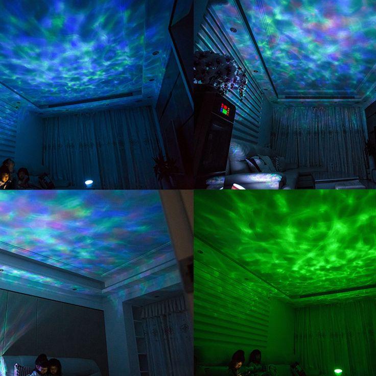 Fancy AGM Ocean Wave Starry Sky Aurora LED Night Light Projector Luminaria Novelty Lamp USB Lamp Nightlight