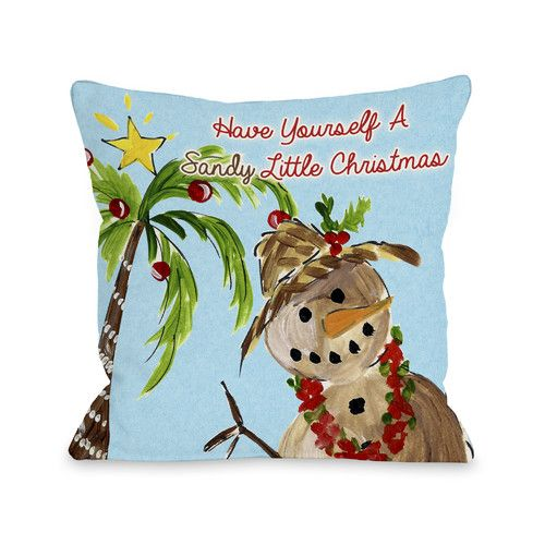 Found it at Wayfair - Sandy Little Christmas Throw Pillow
