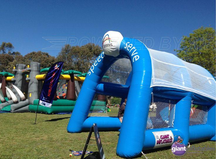 Tennis Australia , Australian Open 2014 Inflatable speed serve game enclosure